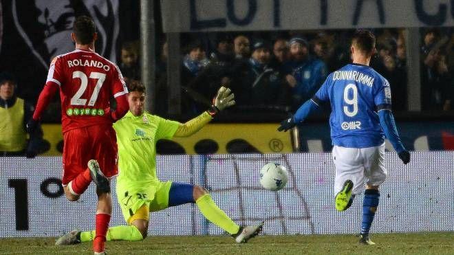 Il gol del 3-1 di Donnarumma (Lapresse)