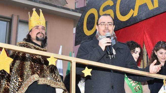 Carnevale di Follonica 2019, Re Oscar con il sindaco Andrea Benini