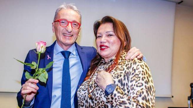 Domenico Samorani con Serena Grandi (foto Bove)