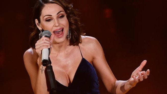 Anna Tatangelo a Sanremo 2019 (Lapresse)