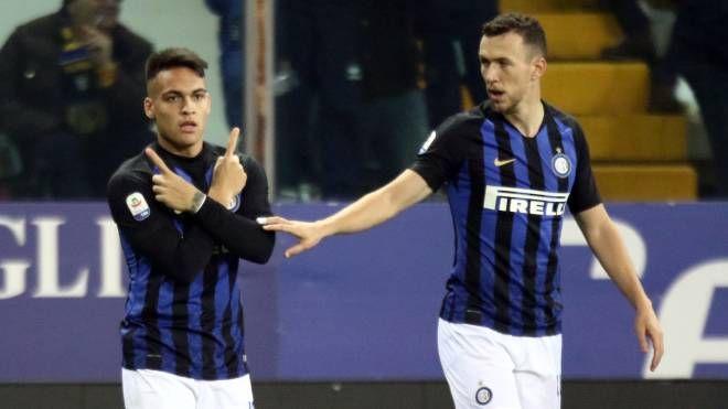 Inter, l'esultanza di Lautaro Martinez (Lapresse)