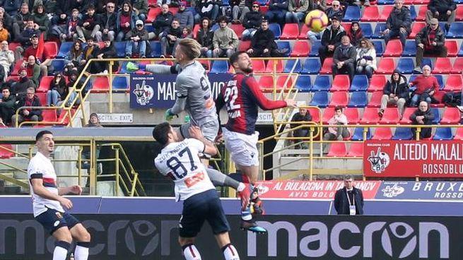 Il gol di Mattia Destro (LaPresse)