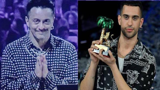 A destra il vincitore di Sanremo 2019 Mahmood, a sinistra Dario Faini, autore del brano