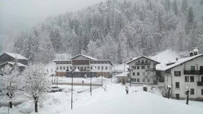 Meteo, peggioramento in vista. Foto: la neve di inizio febbraio sulle Alpi (Ansa)