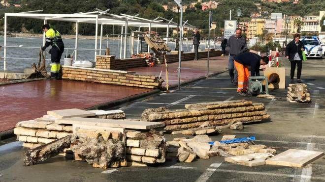 Un'immagine dei danni del 30 ottobre a Lerici