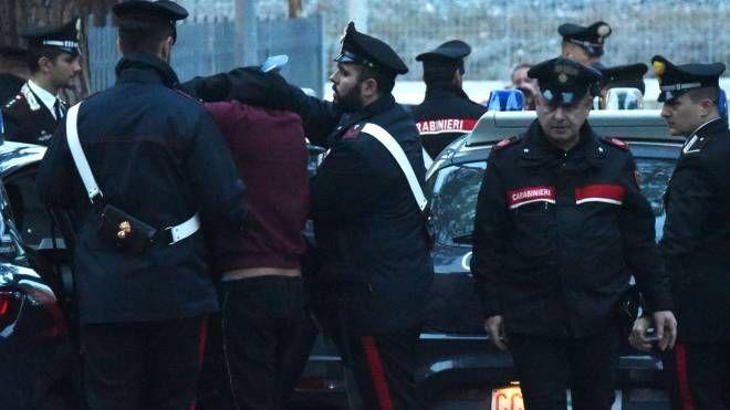 Giovani accoltellati a Riccione, il fermo di uno dei sinti (foto Migliorini)