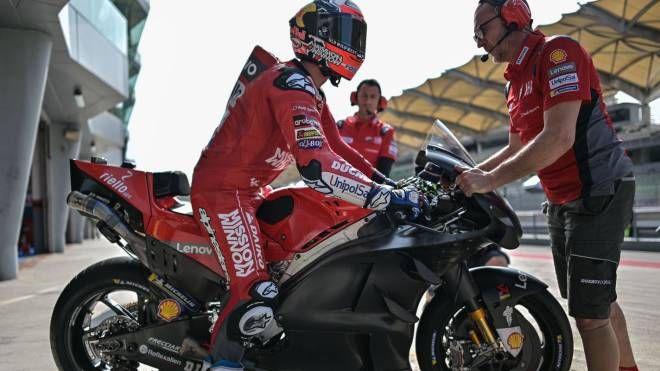 Andrea Dovizioso su Ducati (LaPresse)