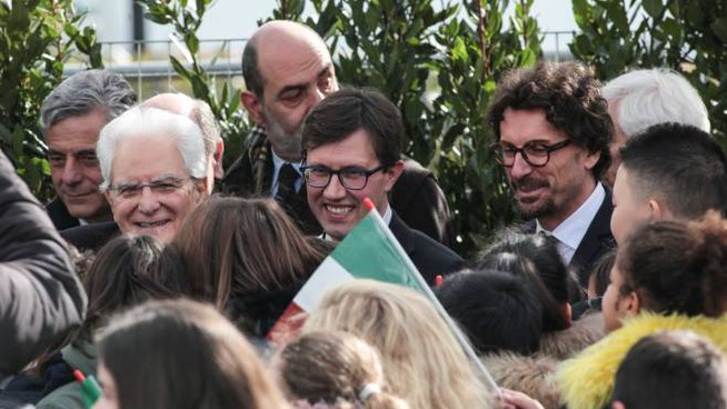 Toninelli con il sindaco Nardella (New Press Photo)