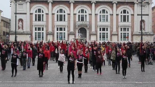 Il flash mob di una precedente edizione in piazza del Popolo