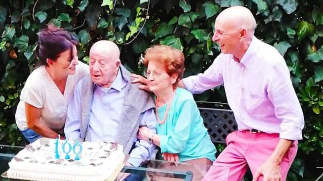 Bartoli festeggiato per i cento anni