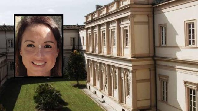 Il tribunale di Lucca (Fonte www.tribunalelucca.com). Nel riquadro Anna Niccolini