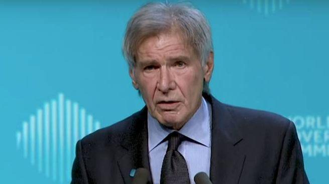 Uno screenshot del discorso di Harrison Ford – Foto: World Government Summit
