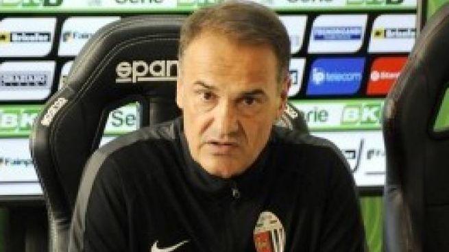 L'allenatore dell'Ascoli Vincenzo Vivarini