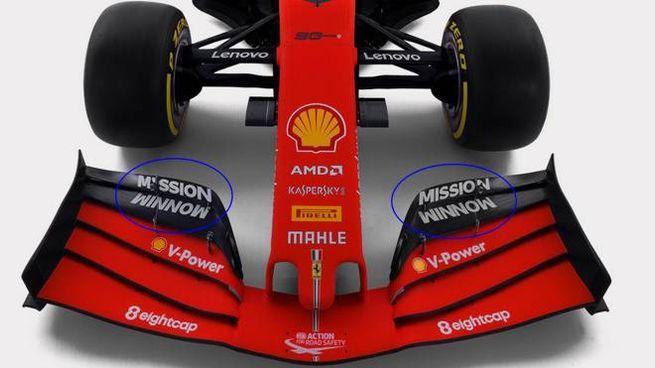 """Nuova Ferrari: """"Mission Winnow"""" logo della Philip Morris"""
