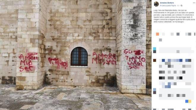Cattedrale di Trani imbrattata, dal post su Facebook del sindaco Bottaro