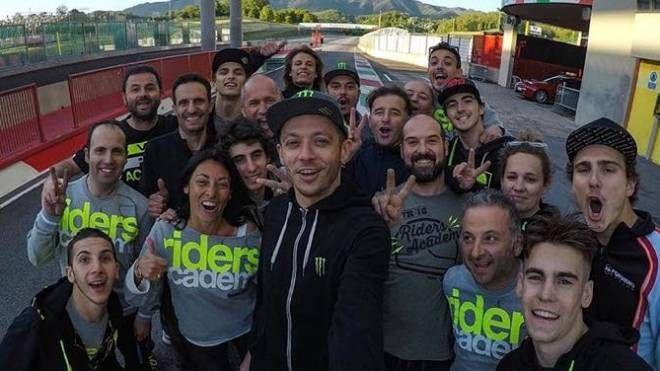 Valentino Rossi durante un evento al Mugello
