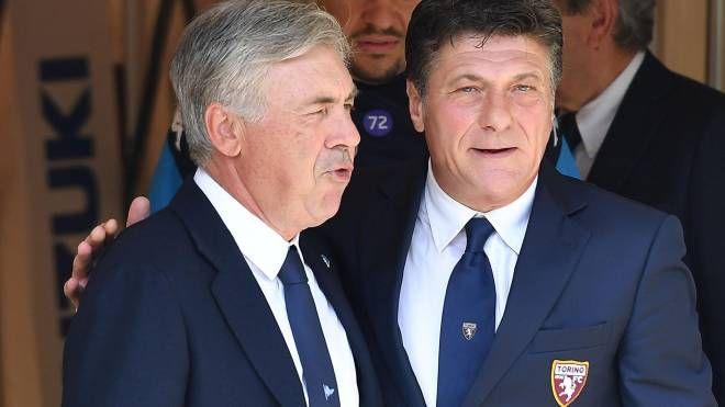 Ancelotti e Mazzarri (Ansa)