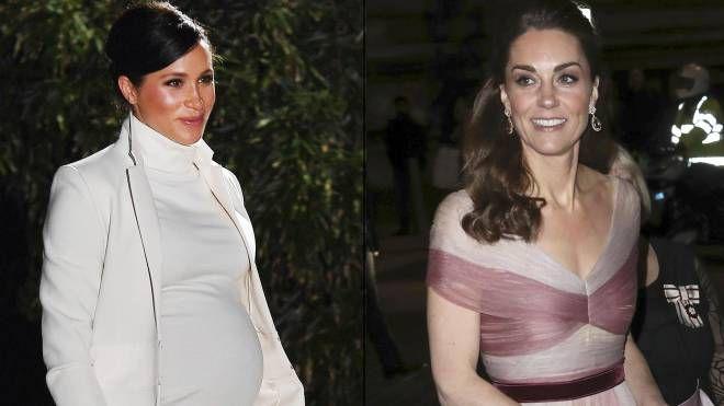 Meghan Markle (sx) e Kate Middleton in due immagini recenti (Ansa)