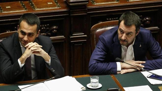 I vicepremier Luigi Di Maio e Matteo Salvini (Ansa)