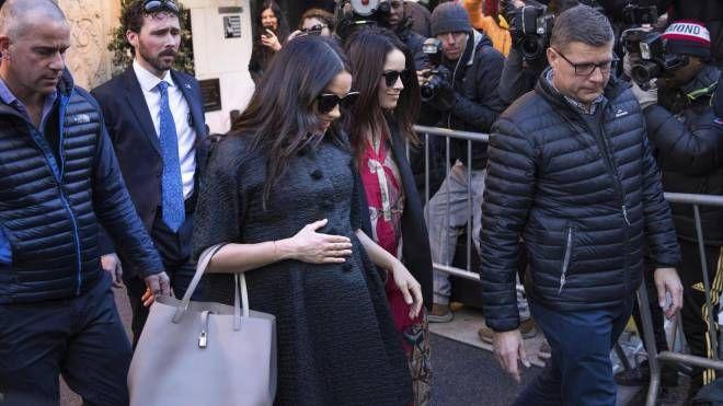 Meghan Markle verso il Mark hotel di New York per il baby shower (Ansa)