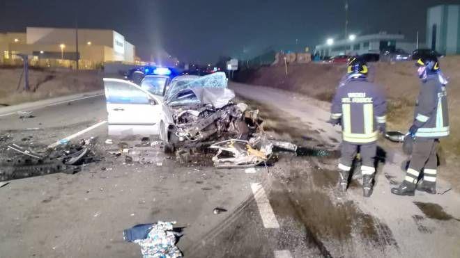 La scena dell'incidente mortale a Fiorano