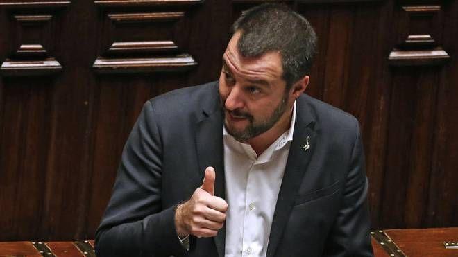 Matteo Salvini in Parlamento (ImagoE)