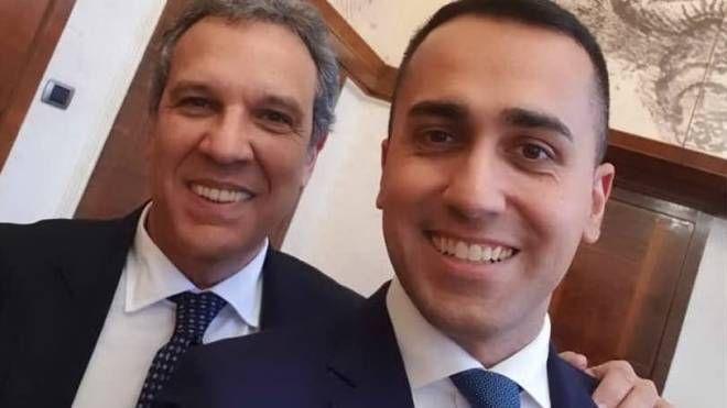 Luigi Di Maio con Francesco Desogus