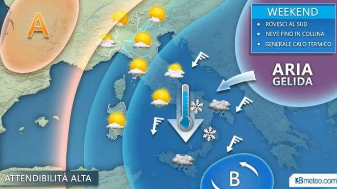Le previsioni meteo per il weekend in Italia