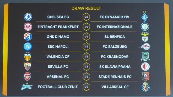 Europa League: i sorteggi degli ottavi (Ansa)
