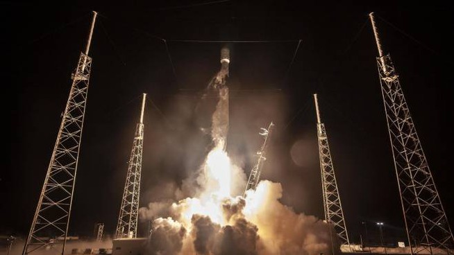 Il lancio del razzo da Cape Canaveral (Ansa)