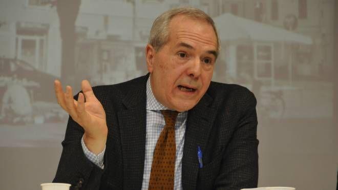 La conferenza stampa di Giorgio Calderoni (foto Frasca)