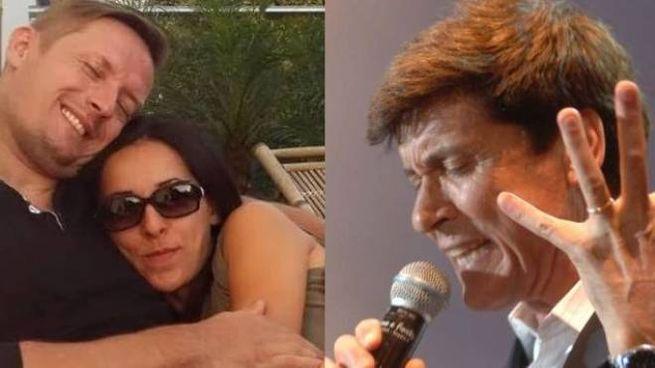A sinistra Patrick Majda con la fidanzata e a destra Gianni Morandi