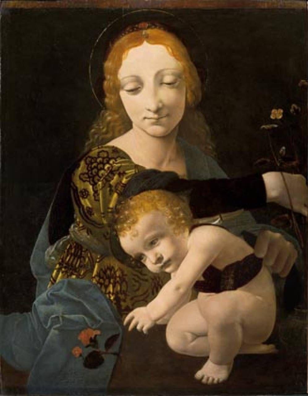 Giovanni Antonio Boltraffio  (Milano 1467 – 1516) Madonna con il Bambino