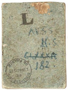 Copertina del Codice L