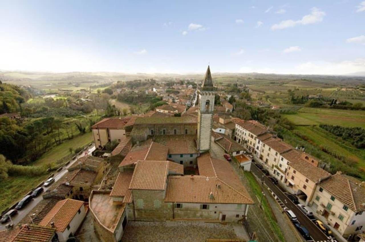 VINCI Vista panoramica  sul centro storico  di Vinci, città natale  di Leonardo