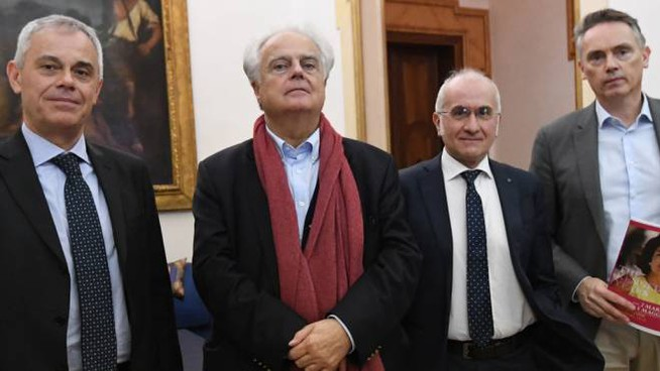 Giancarlo Tonelli, Alain Malraux, Osvaldo Panaro e Frédéric Lecomte-Dieu