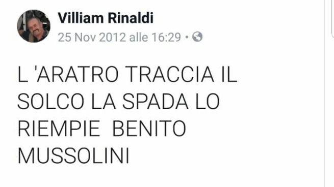 Alcuni post sul profilo Facebook di William Rinaldi