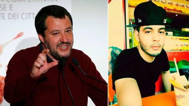 Matteo Salvini e Marouane Farah