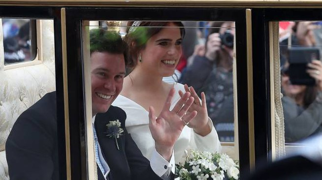 Eugenia di York il giorno del matrimonio - Foto: LaPresse / Daniel LEAL-OLIVAS / AFP