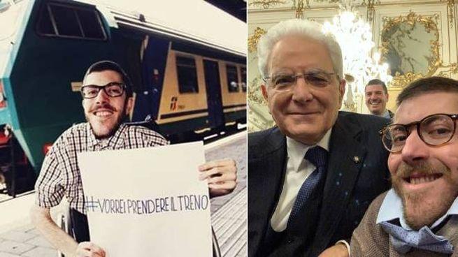 Iacopo Melio e il selfie con il presidente della Repubblica