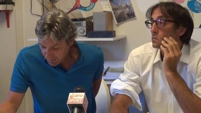 Il sindaco Andrea Gnassi con l'assessore al Bilancio Gian Luca Brasini