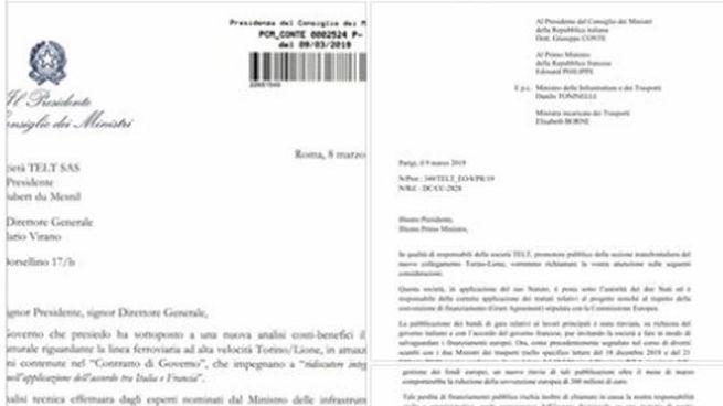 Tav, lo scambio di lettere fra il governo e Telt pubblicato da Conte (Ansa)