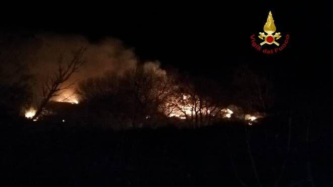 L'incendio sul Monte Labbro