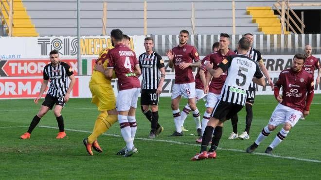 Un momento di Ascoli-Livorno