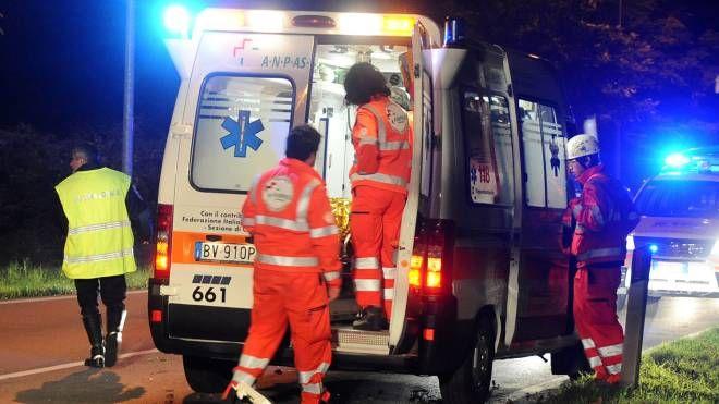 Sul posto sono arrivate le ambulanze per portare i feriti in ospedale