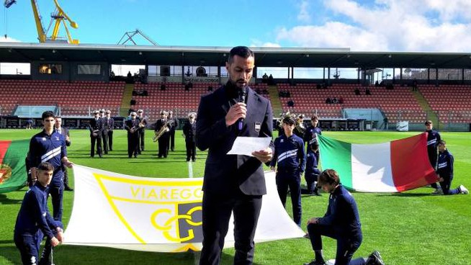 Viareggio Cup, il giuramento letto da Fabio Quagliarella a La Spezia (Matteo Marcello)