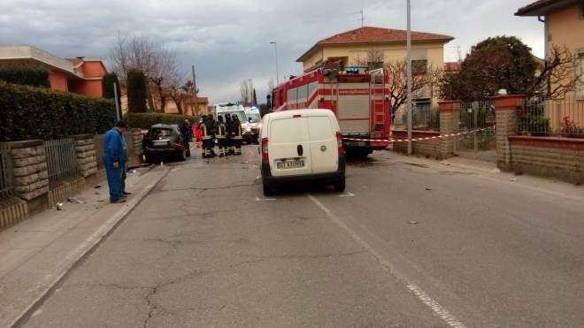 L'incidente in via Sant'Andrea a Santa Croce