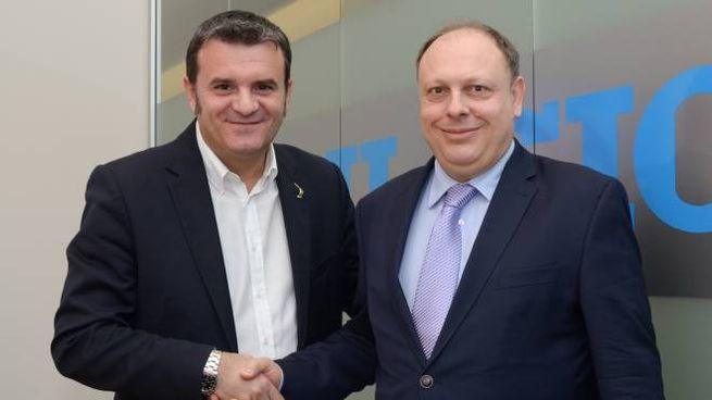 Il ministro Gian Marco Centinaio con il direttore de Il Giorno, Sandro Neri