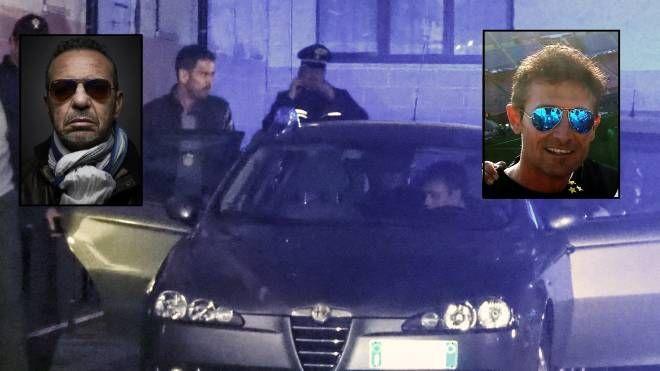 A destra l'omicida, Francesco Ruggiero. A sinistra la vittima, Vincenzo D'Aprile