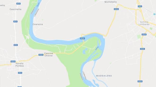 La statale 336 tra Somma Lombardo e Varallo Pombia con il ponte sul Ticino